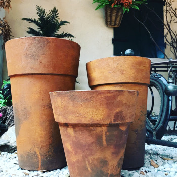 Vaso da giardino effetto corten Rustis - varie misure