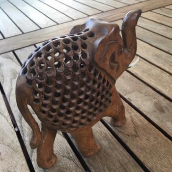 Elefante in legno teak