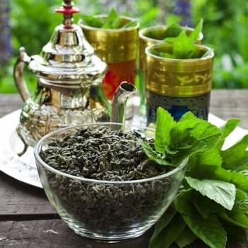 Tè verde alla menta sfuso biologico all'etto